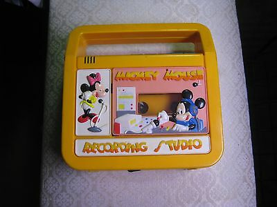 Vintage Mickey Mouse Recording Studio Cassette Player