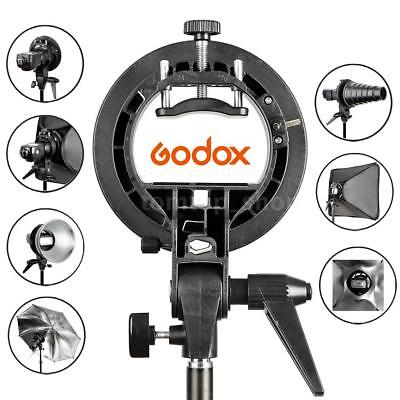 Godox S-Type Bracket Bowens Mount Holder for Speedlight Snoot Godox AD-360 Black