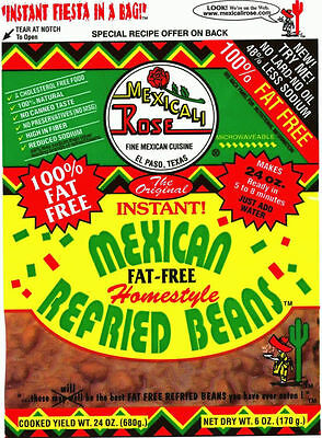 Mexicali Rose Instant Mexican Homestyle Refried Beans 6oz