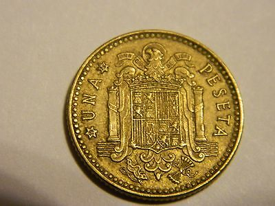 1 peseta aluminum-bronze coin 1975 (1979) Spain KM# 806 type of 1976-1980--INV56