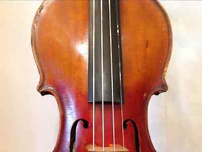 Antique 4/4 Full Sized Violin Labeled Lyric made in Gremay