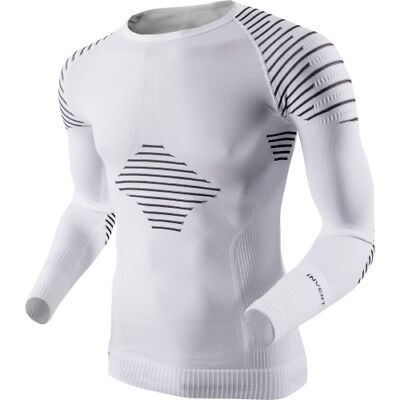 X-bionic Invent Ls Mens Base Layer Top - White Black All Sizes
