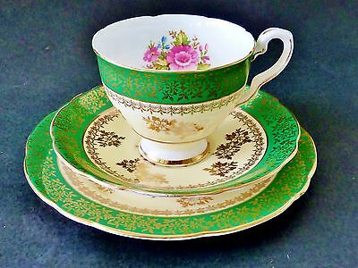 ROYAL STAFFORD HIGH TEA TRIO cup saucer plate ENGLISH BONE CHINA lots of gold