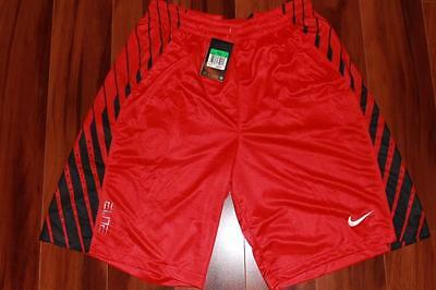 Nike Dri-Fit Elite Mens Basketball Shorts Practice Gym Color 657 Red Size Xl New