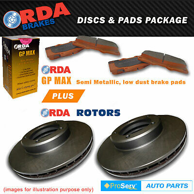 FRONT DISC BRAKE ROTORS AND PADS FOR VOLKSWAGEN GOLF III 1.8i 2/1995-8/2004