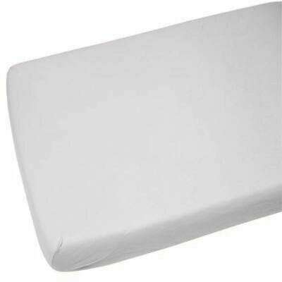 2x Cot Bed 100% Cotton Fitted Sheet Light Grey
