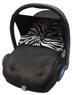 Animal Print Car Seat  Footmuff / Cosy Toes Compatible with Hauck Zebra