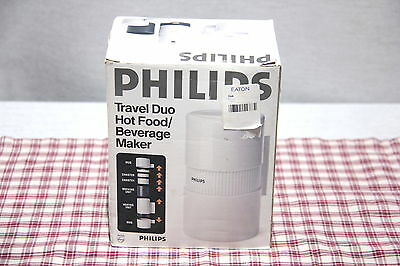 NIB! PHILIPS Travel Duo HOT FOOD / BEVERAGE MAKER + Camping, Students 120VAC