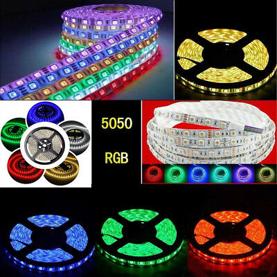 1-20M RGB 5050 SMD waterproof LED Strip Flexible Lamp / IR Remote /12V power