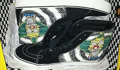 the Simpsons limited edition vans shoes by Tony Munoz men 10