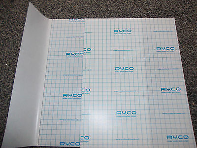 6 x RYCO  Professional  Transparent Book Covers / Protector Clear.school/collage