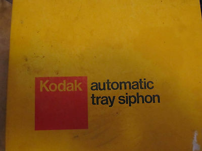 Kodak Automatic Tray Siphon Darkroom for Film Developing Cat. 147-7231