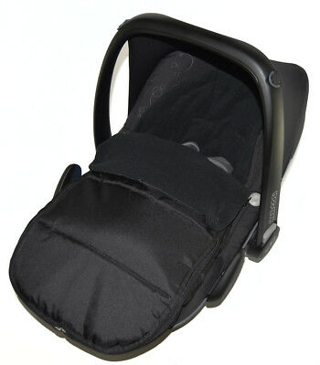 Car Seat Footmuff / Cosy Toes Compatible With ABC Design Black Jack