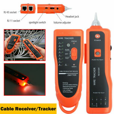 Cable Tester Tracker Phone Line LAN Network Finder RJ11 RJ45 Wire Tracer Scan AU