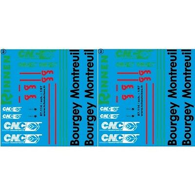 87.114 - bourgey montreuil rinnen CNC - 1/87 decals - 87.114