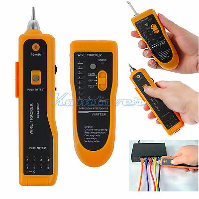 RJ11 RJ45 Telephone Network LAN TV Cable Electric Wire Finder Tracker Tester AU