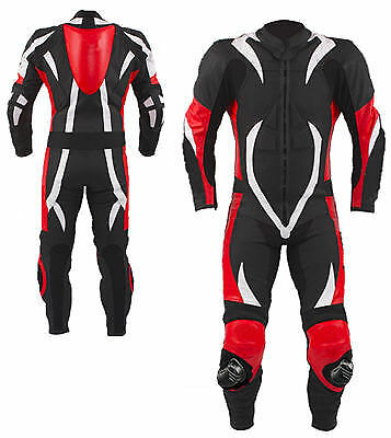 New Quality Motorbike Motorcycle Genuine Cowhide Leather Racing Suit CE Armour