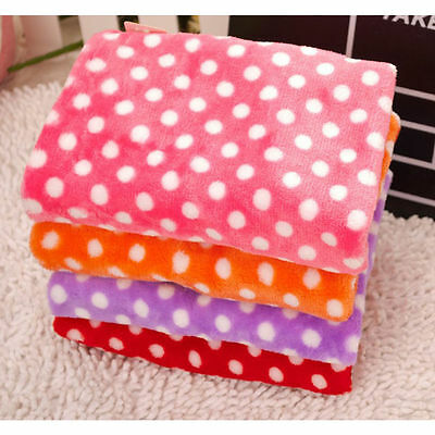 New Coral Soft Warm Pet Puppy Dog Cat Fleece Blanket Quilt Bed Cushion Pad