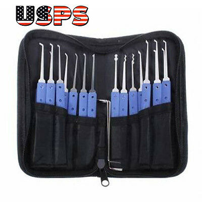 18 in 1 Stainless Steel Lock Pick Set Locksmith Tools【USPS】