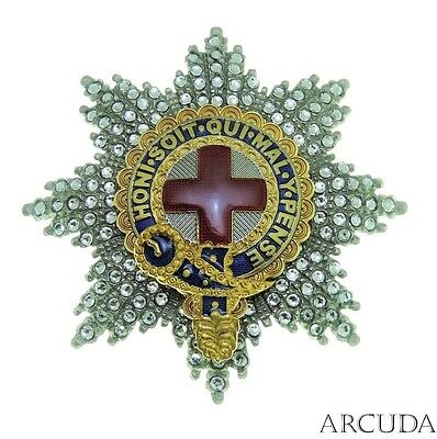 """The Star """"Most Noble Order of the Garter"""" with crystals. Excellent copy"""