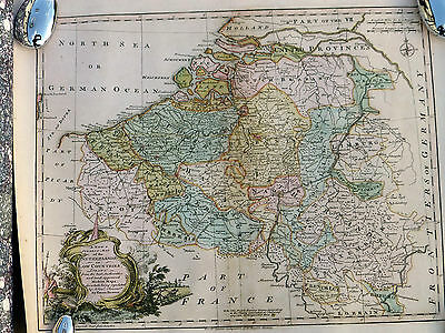 Reproduction map of  part of the Netherlands and the Low Countries