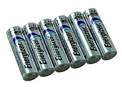 6 x ENERGIZER AA ULTIMATE AA LITHIUM BATTERIES LR6, L91 NEW 1.5v LONG EXPIRY NEW