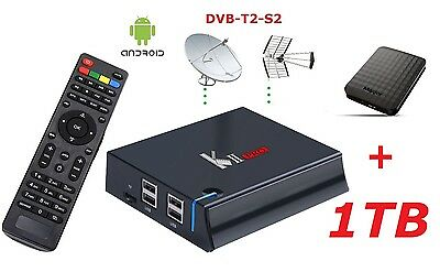 pi Smart Tv Box Android minipc +Hdd 1TB s905 4K +DVB-T2-S2 Kodi Streaming iPTv