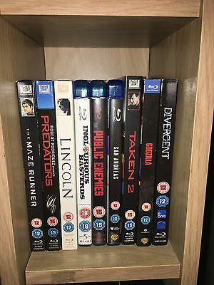 Blu ray collection 25 Blu rays and 17 DVD's