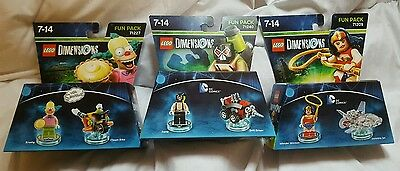 Lego Dimensions Fun Packs Bundle - New and Sealed