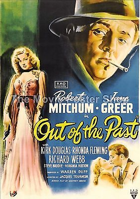 Out Of The Past   Film Noir Movie Poster Vintage & Classic Films