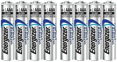 EXPIRY 2035 x 8 ENERGIZER AAA ULTIMATE LITHIUM BATTERIES LR03 NEW 1.5v