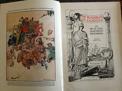 Classic Hardback Book Collection - The Wonderland Of Knowledge Illustrated Encyc