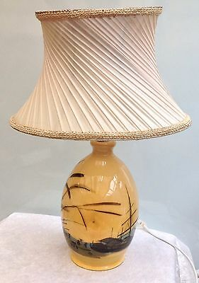 Original Vintage Martin Boyd Hand Crafted Pottery Table Lamp Australian