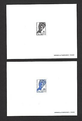 Senegal #371-2 1972 Senegalese Fashion Deluxe imperf proof sheets (2)