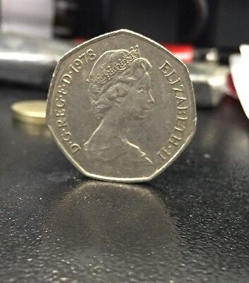 Rare Large 50p Fifty Pence Coin 1978