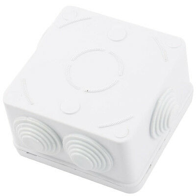 ABS IP55 Waterproof Square Junction Box Plain Press on Lid 85x85x50mm 05CF