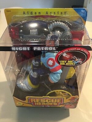 Rescue Heroes Night Patrol Aiden Assist.  2001. -Factory Sealed!