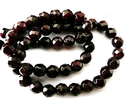 UKcheapest-100% natural Garnet round 6 8mm dark red plum gemstone beads