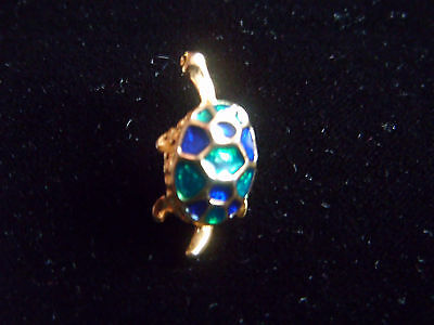 Sweet little enamelled tortoise brooch