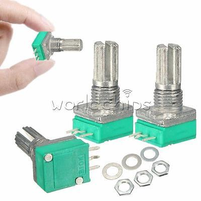 6Pcs Type B 10K ohm 6mm Knurled Shaft Single Linear Rotary Taper Potentiometer