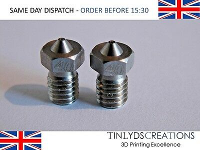 E3D V6 Stainless Steel Nozzle 0.4mm ,For Carbon Printing + Exotics , 3D Part