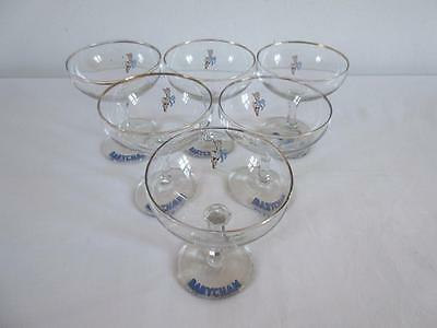 Lovely Set Of 6 Collectable Vintage Retro 1960's/70's  Babycham Glasses