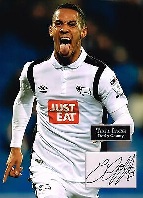 Tom INCE SIGNED Autograph 16x12 Photo Dry Mount AFTAL COA Derby County The Rams