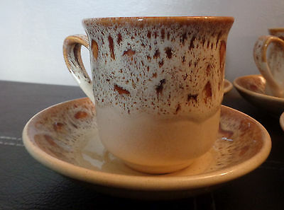 Fosters pottery of Redruth Cornwall  honeycomb design cup and saucer set