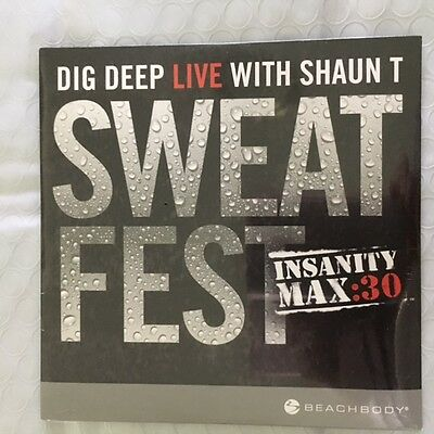 Beachbody Shaun T Sweat Fest Insanity Max 30 Dvd Only Workout New Sealed