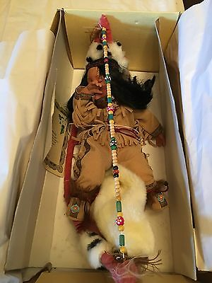 Madison Lee Sleeping Native American Porcelain Doll 2003