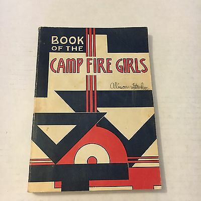 Vintage Mid Century Book Of The Camp Fire Girls, Camp Fire Girls, Inc. 1960