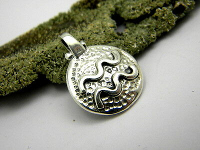 Aquarius sterling silver pendant, Zodiac Sign pendant, horoscope, Astrology