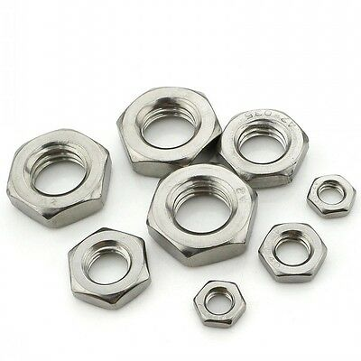M4 M5 M6 M8 M10 M12 M14 M18 M20 Half Hex Nuts Hex Machine Nuts 316 A4 Stainless
