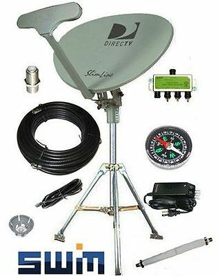 Directv swm 5 kaku Portable Satellite RV Dish Kit Camping Tailgating Tripod new